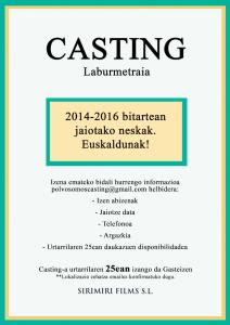 Casting Deialdia POLVO SOMOS film laburrerako